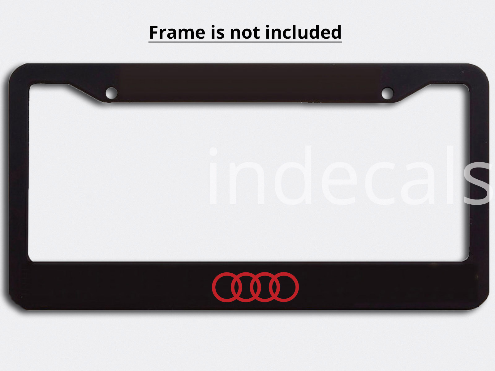 Audi Plate Frame >> 3 X Audi Rings Stickers For License Plate Frame Red Indecals Com