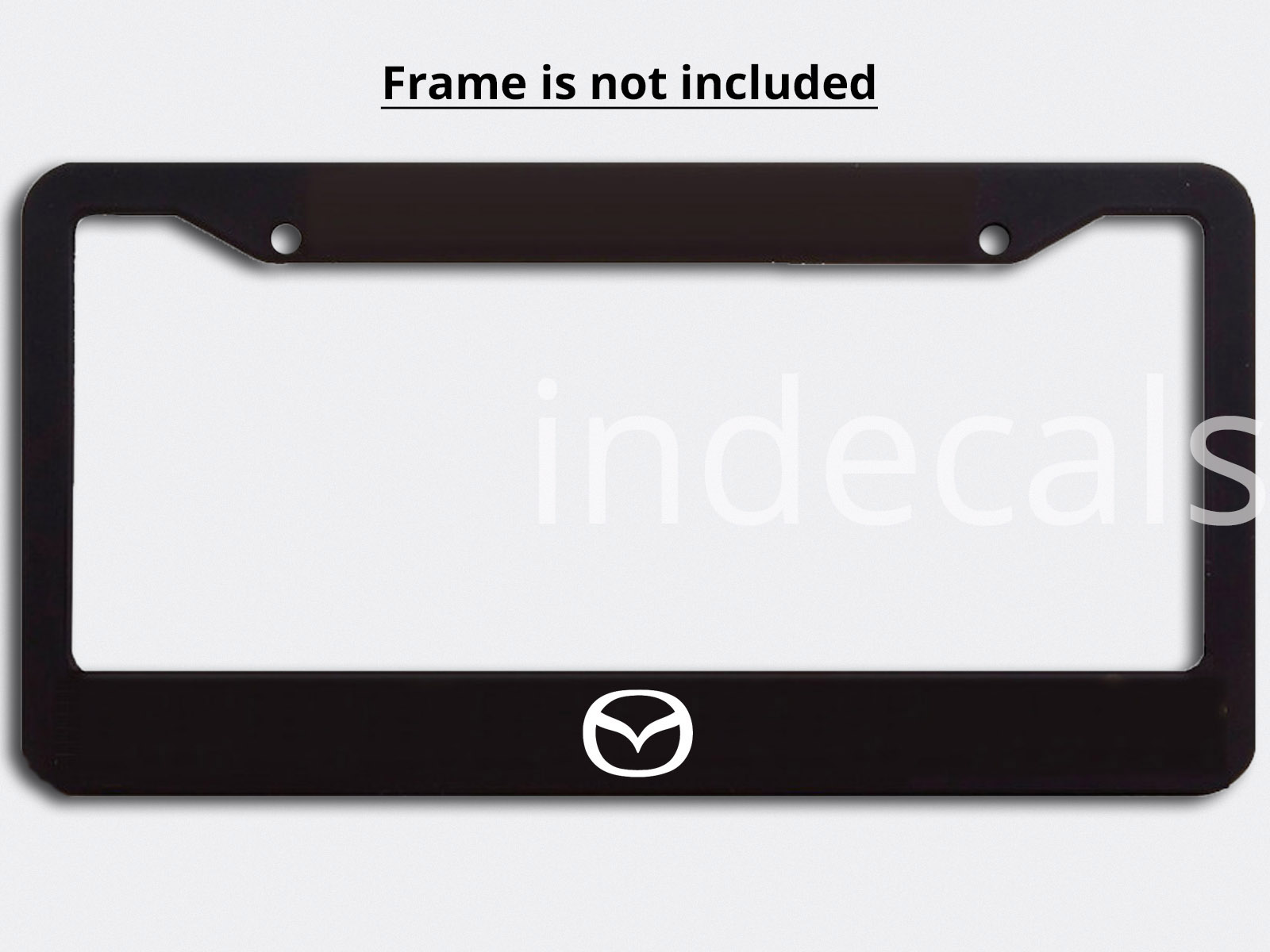 3 x Mazda Stickers for License Plate Frame - White - indecals.com