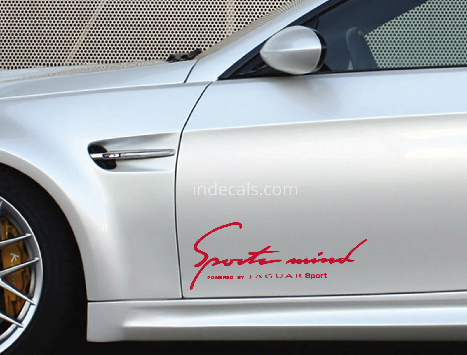 2 x jaguar sports mind stickers red
